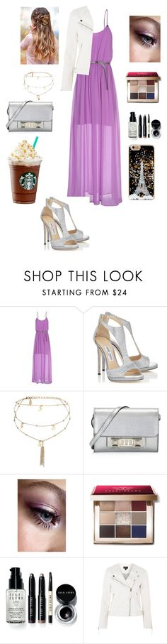 """""""Untitled #392"""" by abigailjoydebruin on Polyvore featuring beauty, GUESS, Jimmy Choo, Ettika, Proenza Schouler, Bobbi Brown Cosmetics and Topshop"""