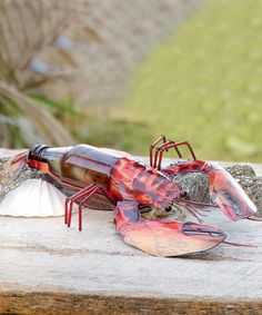 Look at this Red & Yellow Bottle Lobster Décor on #zulily today!