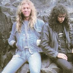 James and kirk Kirk Metallica, Metallica Black, Cliff Burton, Robert Trujillo, Jason Newsted, James Hetfield, Ride The Lightning, Music Pics, 80s Music
