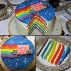 Nyan Cat Themed Cakes