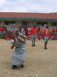 Deaf students dancing beautifully at Machakos School for the Deaf in Machakos, Kenya