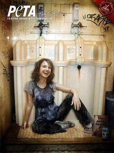 Natalie Portman poses for PETA