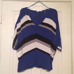 3/4 sleeve sweater Great lightweight sweater. 3/4 sleeves. Black, blue, white, and grey. V-neck. EUC. Tops