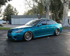 BMW E60 5 series teal