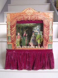 Rare Vintage 1960's Childrens Wooden Toy Theatre & Cinderella Pantomime Figures   eBay
