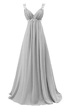 Coonek Elegant A Line Bridesmaid Dress 2016 Evening Dresses for Wedding Long Chiffon customsize * Be sure to check out this awesome product. (This is an affiliate link) #FormalDress