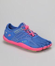 Take a look at this Dazzling Blue & Hot Pink Skele-Toes Bay Runner Shoe - Kids by FILA on #zulily today!