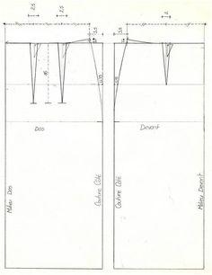 Comment faire le patron d 39 une jupe droite ou trapeze avec - Patron jupe droite facile ...