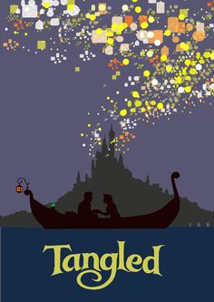 Image of a scene when one of the best Alan Menken song ever written is song.Tangled Art Print by TheWonderlander.