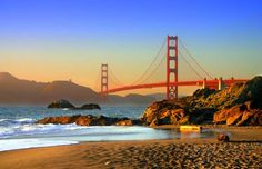 Baker Beach in San Francisco, Best West Coast Beach for Nudists, pinned from https://www.pacific-coast-highway-travel.com/Best-West-Coach-Beaches.html