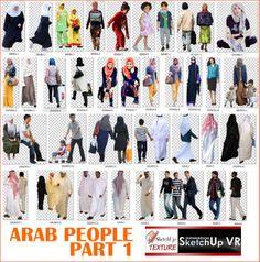 arab cut out people #1b