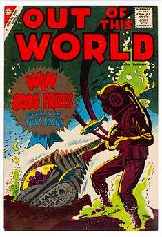 Comic Book Plus, Comic Books, Charlton Comics, Science Magazine, Sci Fi Comics, Steve Ditko, What Image, Classic Comics, Out Of This World