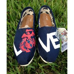 Marines Toms ($92) ❤ liked on Polyvore