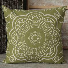 Medallion Green Cushion