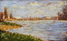 The Riverbanks by Georges Seurat #art