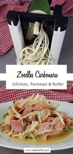 Eins meiner Lieblingsgerichte mit Zucchini ist die Zoodles Carbonara. Easy. Lecker. Schnell gemacht. So machst du Zoodles Zucchini Carbonara.  #Zoodles #Carbonara #Zucchini  #ZucchiniCarbonara. Zucchini Carbonara, Low Carb High Fat, Lchf, Parmesan, Low Carb Recipes, Spaghetti, Paleo, Good Food, Cooking