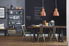 these 20 stunning industrial dining design an urban collection of industrial dining furniture that will add a twist of loft style living to your dining room Kitchen Diner Designs, Loft Stil, Kitchen Decor Themes, Home Decor, Industrial Dining, Industrial Style, Vintage Industrial, Dining Room Lighting, Open Plan Kitchen