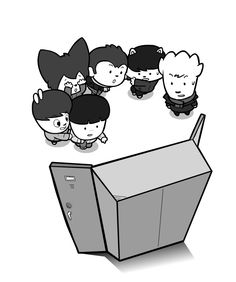Bts Hiphop Monster, Hip Hop Monster, Kdrama, Bts Chibi, Bts Fans, All Art, Snoopy, Cartoon, Comics