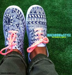 Tribal print sneakers. Hand Painted.   https://www.facebook.com/photo.php?fbid=343329745778545set=a.266868620091325.56487.250924128352441type=3theater