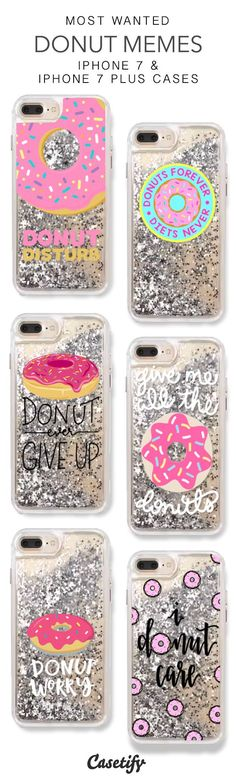 Most Wanted Donut Memes iPhone 7 Cases & iPhone 7 Plus Cases. More Protective Liquid Glitter Food iPhone case here > https://www.casetify.com/en_US/collections/iphone-7-glitter-cases#/?vc=BARVRSq1Ol
