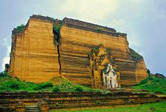 The mammoth unfinished pagoda of Mingun, just over the river from Mandalay.