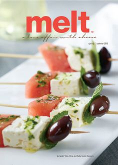 bp imaging melt cover spring summer 2013 tre stelle feta, olive and watermelon skewers