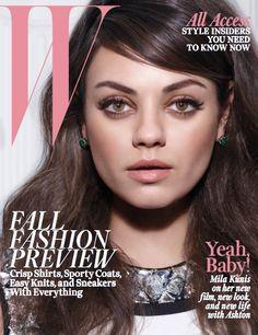 W August 2014 - Mila Kunis