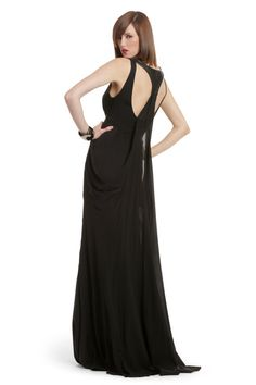 Nicole Miller Mystery Gown (from Rent the Runway; pricey to buy, but a reasonable rental cost) Rent Dresses, Petite Dresses, Casual Dresses, Formal Dresses, Black Bridesmaid Dresses, Bridesmaids, Open Back Dresses, Nicole Miller, Ladies Party