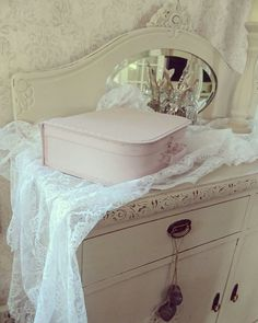 """Shabby chic dresser in Vintro Chalk Paint® """"Madame de Pompadour"""" by Snekkerud Bua. #Vintrolicious. See www.vintro.co.uk for further information on stockists and sales."""