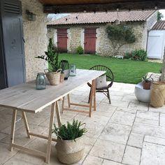 Un nouveau regard: TUTO pour construire votre table de jardin en bois