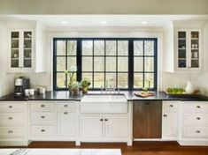 If you are looking for Kitchen Window Design Ideas, You come to the right place. Here are the Kitchen Window Design Ideas. This article about Kitchen Window De. Farmhouse Style Kitchen, Modern Farmhouse Kitchens, Home Decor Kitchen, New Kitchen, Home Kitchens, Kitchen Ideas, Awesome Kitchen, Farmhouse Ideas, Farmhouse Design
