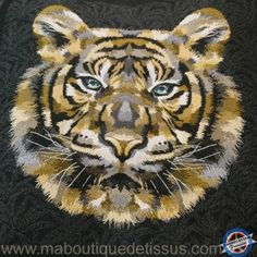 Mood Fabrics, I Love Paris, Bengal Tiger, Book Art, Charcoal, Applique, Patches, Throw Pillows, Quilts