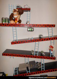 Estanterías originales: Donkey Kong.