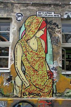 Mural realizado en Berlin por el artista El Bocho