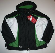 CB Sports Women's All-Weather Coat Size: Large Black/White/Green CB. $140.00