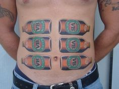 The Beer Homage.   The 14 Most Fair Dinkum Tattoos Known To Man