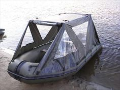 Fishing boat with tent