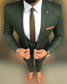 Three Piece Suit, 3 Piece Suits, Wedding Men, Wedding Suits, Green Wedding Suit, Autumn Wedding, Wedding Summer, Wedding Groom, Saree Wedding