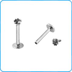 High Quality Stainless Steel Lip Studs Inner Threaded Lip Ring Body Piercing Jewelry Labrets
