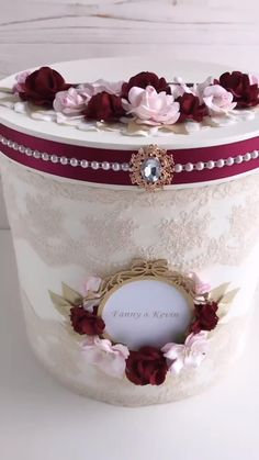 Card Box Wedding Burgundy Handmade from StayWithAnn Available to order on the website STAYWITHANN.COM Pink Christmas Decorations, Christmas Crafts To Make, Christmas Ornament Crafts, Diy Wedding Decorations, Wedding Stamps, Lace Wedding Invitations, Money Box Wedding, Card Box Wedding, Pale Pink Weddings