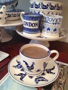 Blue Hen ... Emma Bridgewater pottery!  Love the London mug, too!