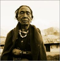 Christian Aslund - Portrait of elderly woman.