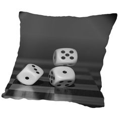 "East Urban Home Cube Dice Hobby Game Throw Pillow Size: 20"" H x 20"" W x 2"" D"