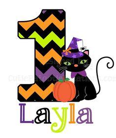 Personalized Halloween Chevron Birthday T-Shirt or Onesie by www.cutiepatootiecreations.com