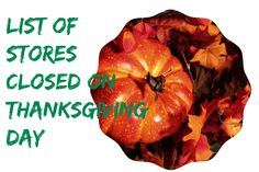 Stores Closed on Thanksgiving Day