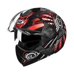 High quality U.V. resistant Polyurethene paints used for aesthetic enhancement. Movable chinguard operated with single lever flip up mechanism. Spae visor available in clear, smoke tint, mirror and rainbow options. Available in L (580 mm), and XL (600 mm) sizes. Full Face Helmets, Motorcycle Helmets, Rainbow, Smoke, Mirror, Jackets, Painting, Black, Motorbikes