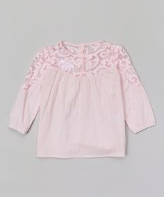 Another great find on #zulily! Pink Lace Top - Toddler & Girls #zulilyfinds