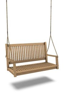 for on the patio? just one as an option?! would be so fun to sit outside in the summer and swing while people watching :: Sasilia's Outdoor Havana: Hanging bench