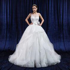 Wedding dress 2015 summer new Korean version of the simple thin shoulders Qi word shoulder bride wedding dress