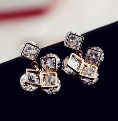 Diamond Irregularity Rhinestone Statement Earrings